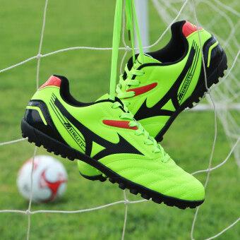 คนฝึกรองเท้าผ้าใบรองเท้ากีฬาฟุตบอลอาชีพกลางแจ้งสีเหลือง