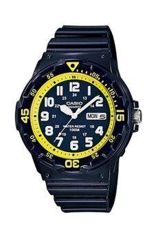 Casio Standard นาฬิกาข้อมือผู้ชาย สีดำ สายเรซิ่น รุ่น MRW-200HC-2B