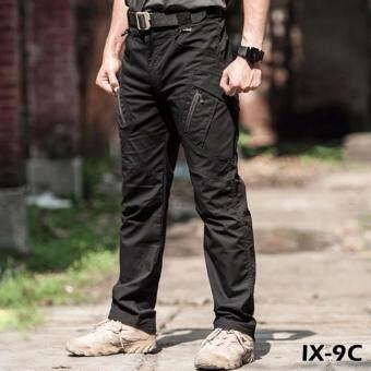 กางเกงขายาว กันน้ำ กางเกงใส่เดินป่า ท่องเที่ยว รุ่น ix9c (สีดำ)