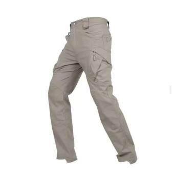 กางเกงขายาว ผ้ากันน้ำ กางเกงใส่เดินป่า กิจกรรมผจญภัยทุกรูปแแบบ หรือใส่ทำงาน ใส่เที่ยวได้ทุกที่ รุ่น ix9c (สีกากี)