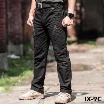กางเกงขายาวใส่สบายผ้าหนายืดแต่ไม่ร้อน ทนทานทุกสภาพอากาศ ix9c สีดำ