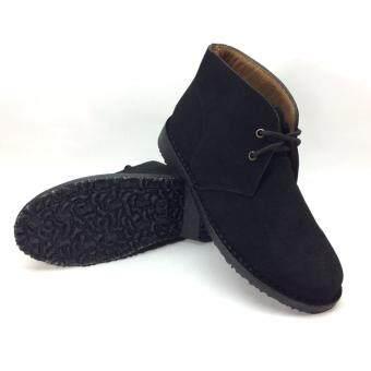 J CHOO รองเท้าหนังแท้ หนังกลับแท้ รหัส113 สีดำ