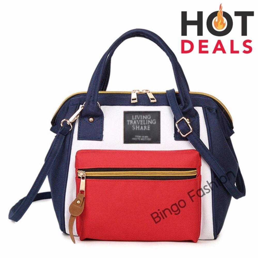 กระเป๋าเป้ นักเรียน ผู้หญิง วัยรุ่น บุรีรัมย์ Jamie FashionJapan Women Bag Backpack กระเป๋าเป้สะพายหลัง   White Red