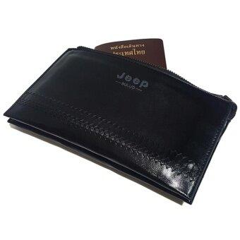 กระเป๋าหนังผู้ชาย (สีดำ) กระเป๋าถือมือเดียว มีสายรัดข้อมือ หนังลายสวยหรู เทียบได้ระดับราคาหลายพัน Jeep Buluo S2-1617