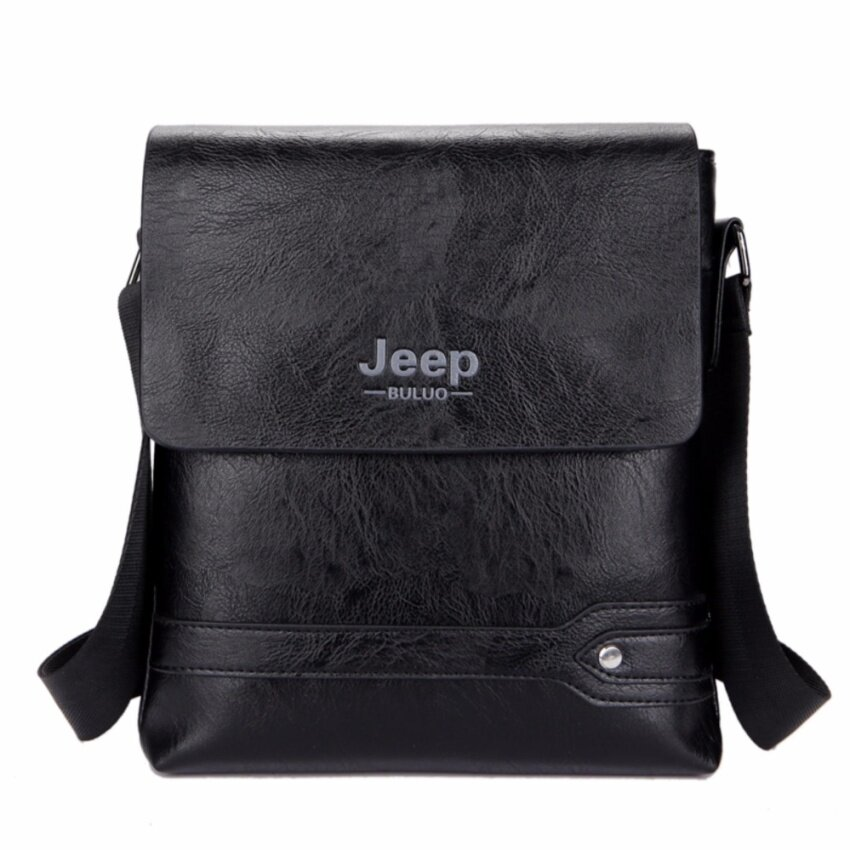 Jeep Men's Korean Style Business Casual Shoulder Bag Cross-body Bag Computer Bag-Black 03 - intl