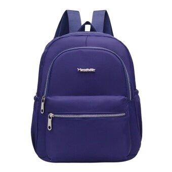 Jianyue ฟอร์ดนักเรียนที่เดินทางมาพักผ่อนกระเป๋าเป้สะพายหลังแนวโน้มกระเป๋าถือ (สีน้ำเงินเข้ม)