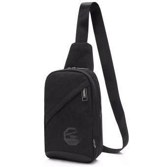 กระเป๋าสะพายไหล่ คาดอก-1078 (สีดำ)