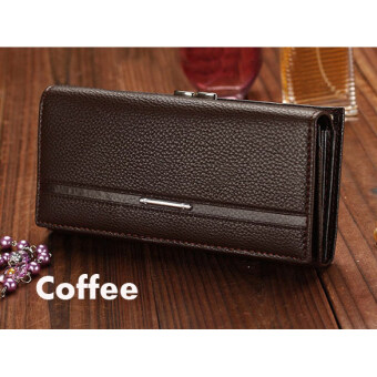 In Women High Quality Solid Button Leather Hand Bag Long ClutchWallet Purse Red ...