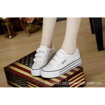 ่่JOY SELECTION รองเท้าผ้าใบเสริมความสูง3.7 ซม k022 สีขาว - 2
