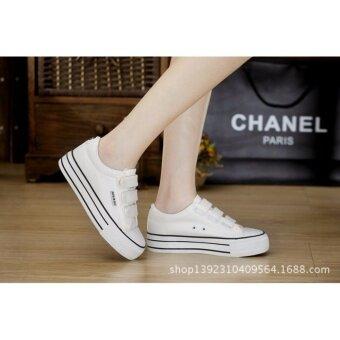 ่่JOY SELECTION รองเท้าผ้าใบเสริมความสูง3.7 ซม k022 สีขาว - 3