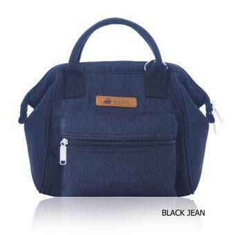 กระเป๋าผ้า รุ่น GRACE 2 WAY สายปรับเป็นเป้หรือสะพายข้างได้ ผ้ายีนส์ดำ