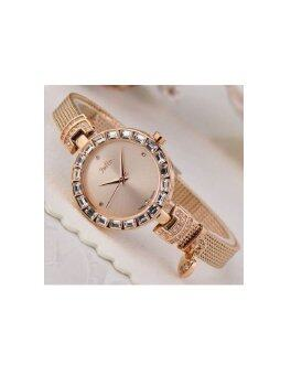 Julius นาฬิกาข้อมือผู้หญิง สายสแตนเลส รุ่น JA-491 - สีพิ้งค์โกลด์ - 3