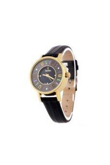 ประเทศไทย Julius นาฬิกาสำหรับผู้หญิง รุ่น JA-619 สายหนัง - สีดำ