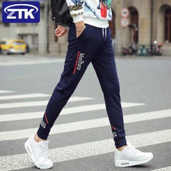 กีฬาเกาหลีชายโรงเรียนมัธยมนักเรียนขากางเกงยางยืดกางเกงลำลอง (K183 น้ำเงิน)