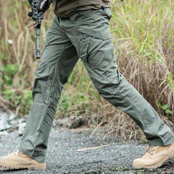กางเกงขายาว กันน้ำ เบา ไม่ต้องรีด รุ่น IX11 - สีเขียว