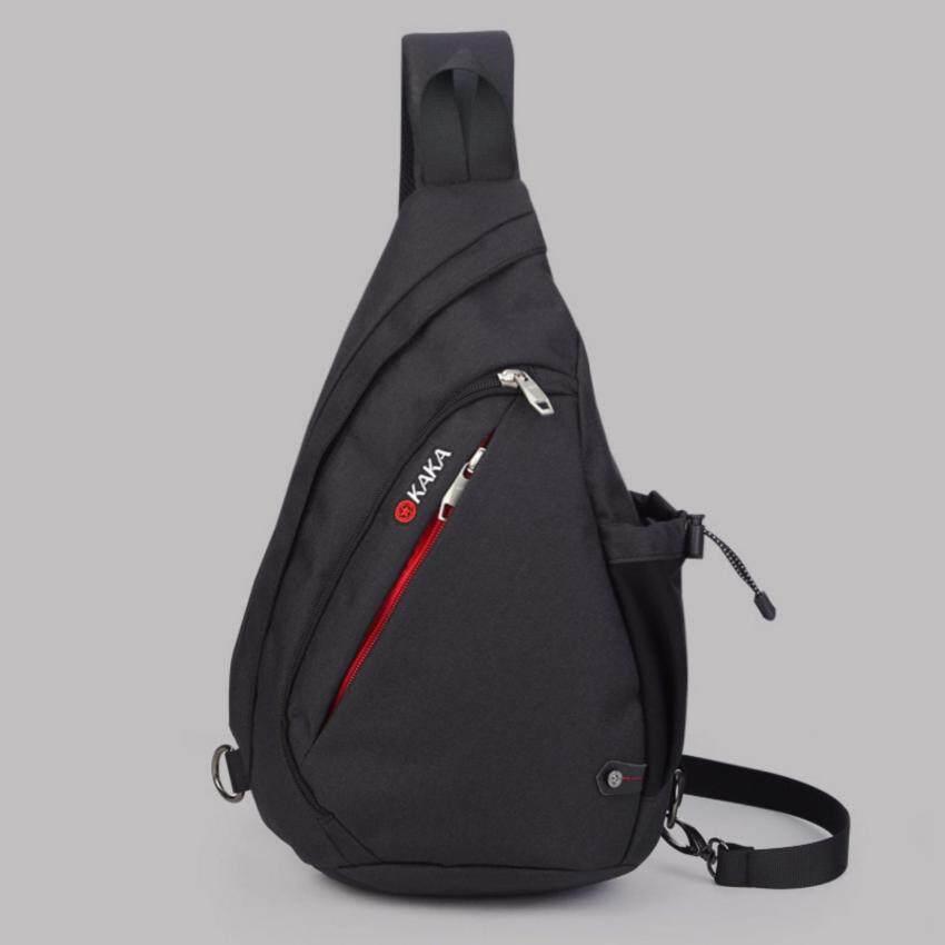 KAKA กระเป๋าคาดอก-สะพายหลัง รุ่น 99001 ไซส์ Large (สีดำ)