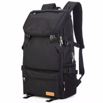 "KAKA Otzi กระเป๋าเป้สะพายหลัง แฟชั่นไสตส์เกาหลี แบ็คแพ็ค เดินทาง ท่องเทียว กันน้ำ สีดำ"""
