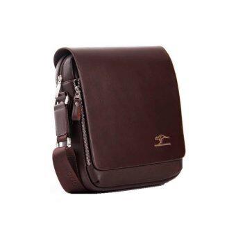 Kangaroo Kingdom Premium PU Leather Men Messenger Bag - Brown - intl - 3