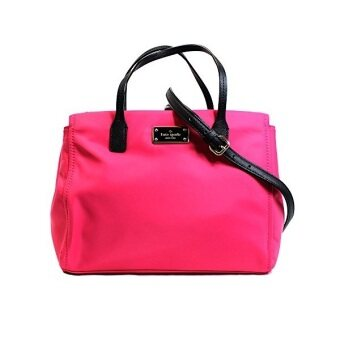 Kate Spade กระเป๋าสะพาย รุ่น wkru3529 Avenue Small Loden Pink Nylonhandbag (สีชมพู)