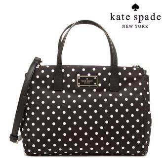 กระเป๋าสะพายข้าง สายยาวถอดได้ KATE SPADE WKRU3529 AVENUE SMALLLODEN BLACK NYLON HANDBAG