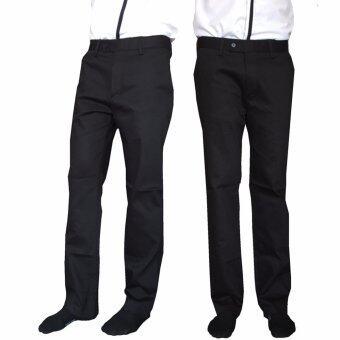 k.baby กางเกงสเเล็ก (ผ้ายืด + ทรงขากระบอก) Chino สำหรับผู้ชาย -สีดำ