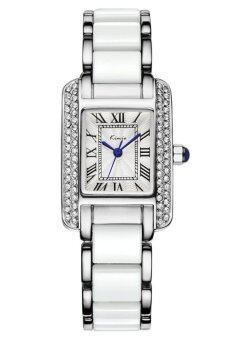 Kimio นาฬิกาข้อมือผู้หญิง สีขาว/เงิน สาย Alloy รุ่น KW6036
