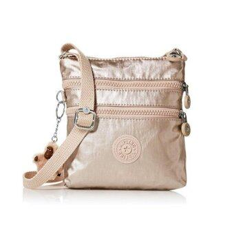 Kipling กระเป๋าสะพายใบเล็ก Alvar XS Crossbody Bag - สี Sparkly Gold