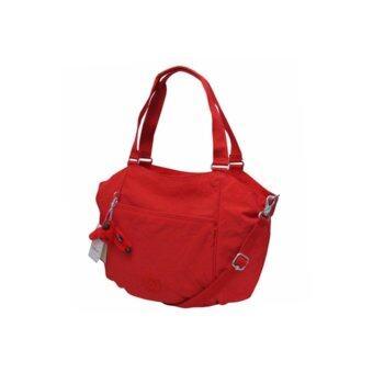 ลดราคา KIPLING SHOP ของแท้เบลเยี่ยม กระเป๋าถือสะพาย Kipling Gwendolyn Cardinal Red