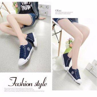 Kiyaya รองเท้าผ้าใบแฟชั่นเสริมส้นผู้หญิง รุ่น TP-CM9107-Navy (image 4)