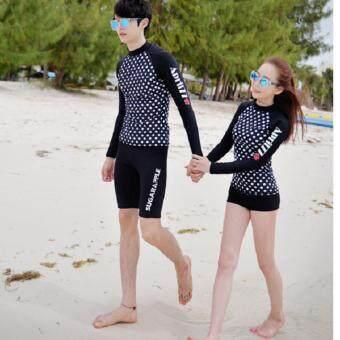 KK ชุดว่ายน้ำชาย ชุดดำน้ำ เสื้อแขนยาวกางเกง3ส่วน (สีดำ) รุ่น 16008