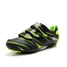KLBIKE รองเท้าปั่นจักรยานเสือหมอบ tiebao สีดำเขียว