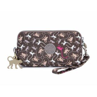 Harga Klpllng Fashion Women's Canvas Wallet(coffee) - intl