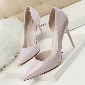 KOKO Hot Fashion Sexy Woman Pumps Thin Heels High-Heeled Shoes Pointed Toe Ladies Wedding Shoes Closed Toe Women Shoes High Heels (Yellow) - 4