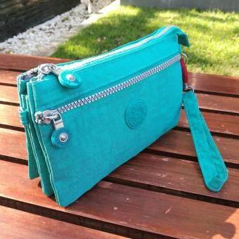 Korea กระเป๋าสะพายใบเล็ก3ชั้นผ้ากันน้ำ รุ่น G015-6-1 (สีเขียว)