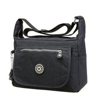 อยากขาย Korea กระเป๋าสะพายผ้ากันน้ำ รุ่น G012-2 - สีดำ
