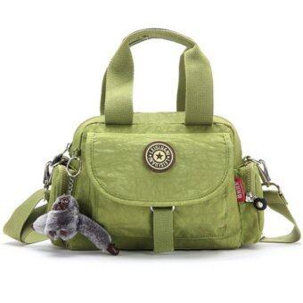 รีวิวพันทิป KOREA กระเป๋าสะพายข้าง แบบมีหูหิ้ว ผ้ากันน้ำรุ่นG022-6(สีเขียวพร้อมลิง)