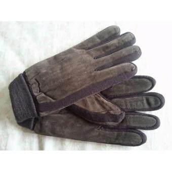 Korea glove ถุงมือกันหนาว ผู้ชายหนังน้ำตาลเข้ม
