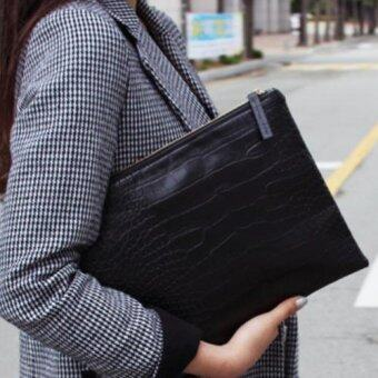 สนใจซื้อ Korea กระเป๋าถือใส่เอกสารใส่ipad รุ่นA001-9-4 (สีดำ)