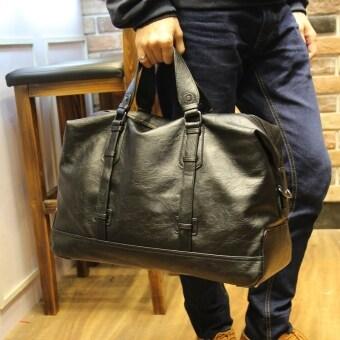 Korean Male Package Large Capacity Travel Handbag Luggage Bag Gym Tote(Black) - intl
