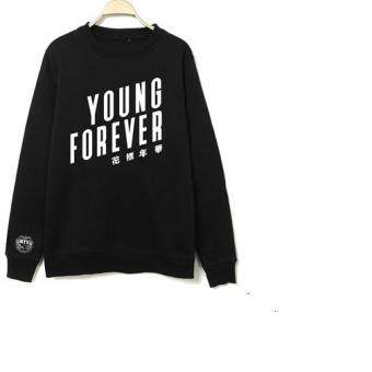 Kpop bts bangtan boys young forever album printing o neck\nsweatshirt plus size unisex pullover hoodies fashion men women\nmoletom - intl
