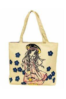 เปรียบเทียบราคา Lady Bags กระเป๋าผ้าสะพายข้าง รุ่น LBF -016 - new