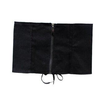 LALANG Womens Laced Up Corset Elastic Fashion Wide Belt L (Black) -intl