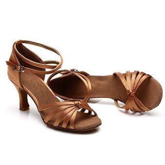 LatinTango Ballroom Dancing ShoesWomen's Latin Salsa Dance Shoes Dark Brown