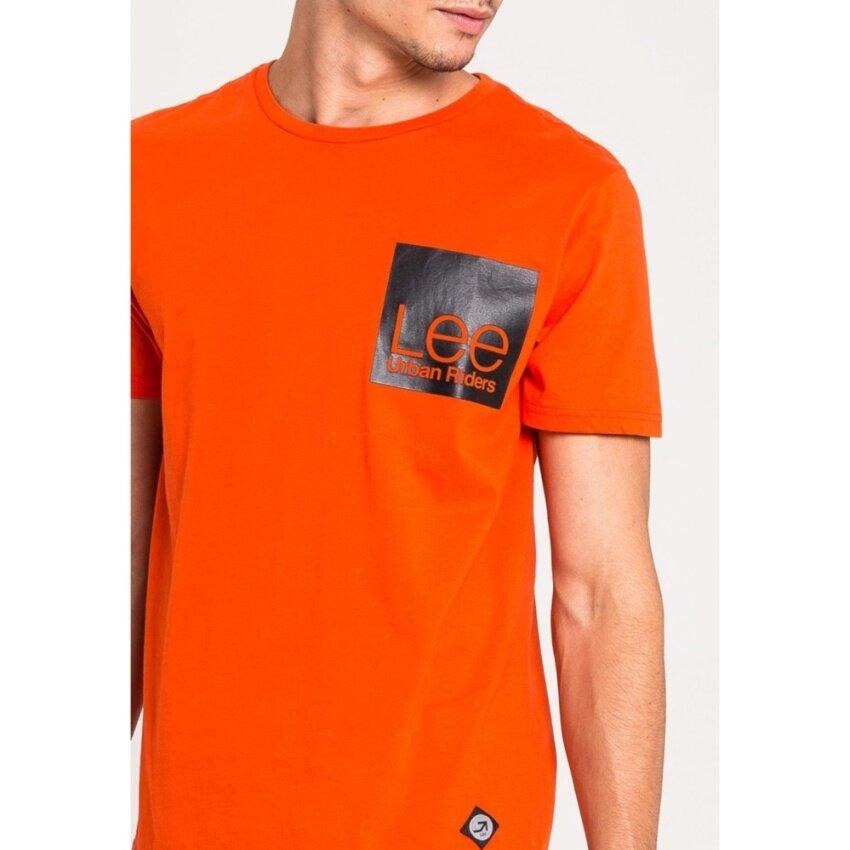 มาใหม่ เสื้อยืดคอกลมแขนสั้น รุ่น LE 17001018 สี ORANG0 มาใหม่