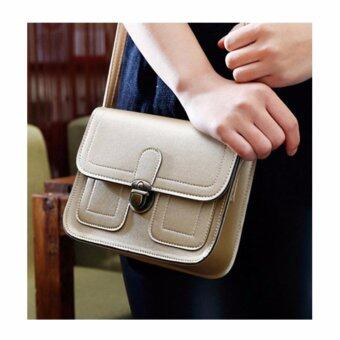 รีวิวพันทิป กระเป๋าสะพาย Leather Lady สีทอง