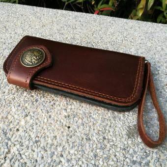 Leather lnc กระเป๋าถือกระเป๋าสตางค์ ผู้ชาย หนังแท้ รุ่น B-55599-9-1(สีน้ำตาลหนังเรียบ) - 3