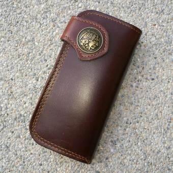 Leather lnc กระเป๋าถือกระเป๋าสตางค์ ผู้ชาย หนังแท้ รุ่น B-55599-9-1(สีน้ำตาลหนังเรียบ) - 5