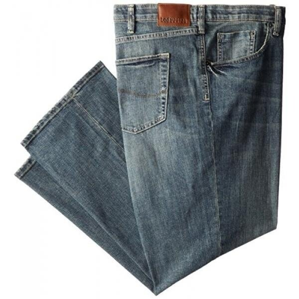 ขายถูก Lee Mens Big-Tall Modern Series Custom Fit Relaxed Straight Leg Jean, Santiago, 46W x 30L - intl รีวิวสินค้า