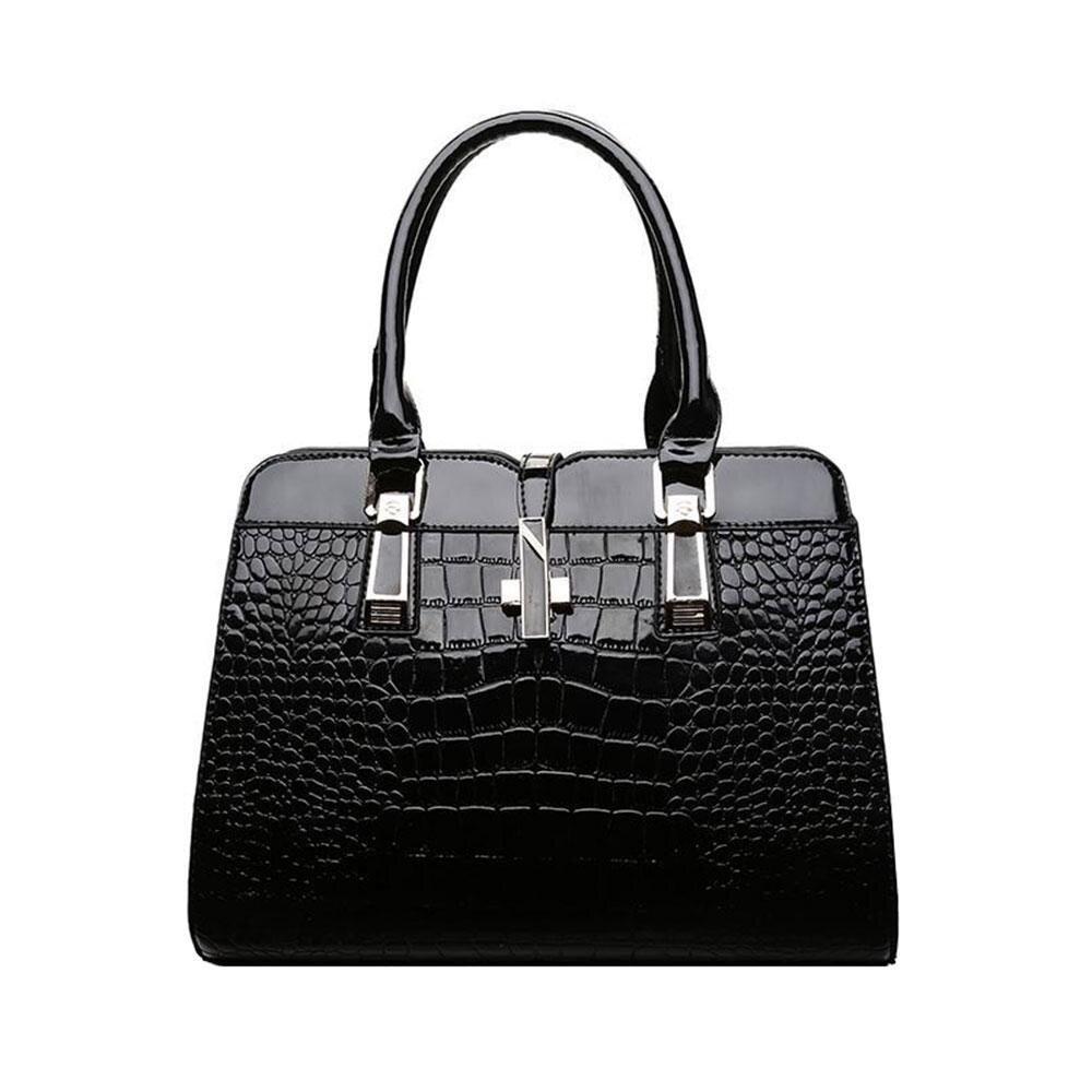 กระเป๋าเป้ นักเรียน ผู้หญิง วัยรุ่น นครปฐม Leegoal ผู้หญิงกระเป๋าถือสตรี VINTAGE   สะพายข้างหนัง PU กระเป๋าสะพายไหล่  สีดำ