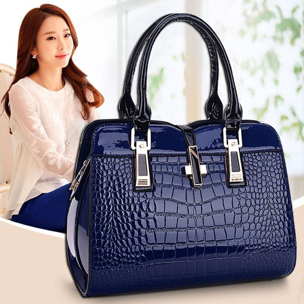 กระเป๋าเป้สะพายหลัง นักเรียน ผู้หญิง วัยรุ่น ประจวบคีรีขันธ์ leegoal Women Vintage Women s Handbags   PU Leather Crossbody Shoulder Bag  Dark Blue   intl